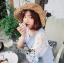 Lady Ribbon Lace-Sleeve Mini Dress with Ribbon thumbnail 3
