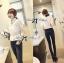 Lady Ribbon Cotton Lace Shirt เชิ้ตตัดต่อผ้าลูกไม้สุดหวาน thumbnail 4