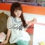 Lady Ribbon เสื้อตัวยาวปักครอสติส แขนตุ๊กตา สีขาว สีกรมท่า thumbnail 1