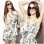 Lady Ribbon Spring Floral Graphic Painting Jumpsuit thumbnail 4