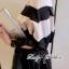 Lady Ribbon เสื้อปาดไหล่พิมพ์ลายทางประดับโบช่วงแขน thumbnail 3