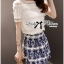 Lady Ribbon Lace Top and Printed Skirt Set thumbnail 1