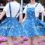 Lady Ribbon Denim Jumper เอี๊ยมกระโปรงยีนส์ ลายกางเขน thumbnail 8
