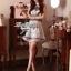 Lady Ribbon Givenchy Print Mini Dress มินิเดรสผ้าซิลค์พิมพ์ลาย thumbnail 1