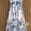 Lady Ribbon Blue Print Maxi Dress thumbnail 9