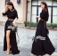 Lady Ribbon Glam Chic Evening-wear Maxi Dress thumbnail 3