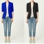 ZARA WOMAN Blazer สีน้ำเงิน แต่งซับในลายทาง (Size M) thumbnail 1