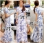 Lady Ribbon Floral Print Maxi Wrap Dress thumbnail 6