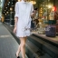 White Lace Mini Dress Shirt by Seoul Secret thumbnail 3