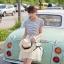 Lady Ribbon ชุดเซ็ทเสื้อสไตล์กะลาสี มินิเดรสกระโปรงพลีท สีครีม thumbnail 8