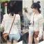 Lady Ribbon Sweet Mix Fabrics Lace Blouse thumbnail 2