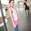 เสื้อชีฟองสีชมพู ชายเสื้อด้านหน้าสั้น ด้านหลังยาว thumbnail 4