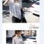 เสื้อตัวยาว ผ้าชีฟอง พิมพ์ลายกราฟฟิก สีขาว สีดำ thumbnail 6