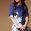 Seoul Secret Blue Denim Lace Furnish Dress thumbnail 3