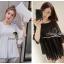 Seoul Secret เสื้อผ้าชีฟองเนื้อทราย สีขาว สีดำ แต่งเลื่อมสีเงิน thumbnail 10