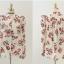 เสื้อแขนยาว ผ้าชีฟอง สีเบจ พิมพ์ลายดอกไม้ thumbnail 9