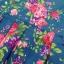 Lovely Floral Mini Dress มินิเดรสแขนกุด ลายดอกไม้ สียีนส์ สีขาว thumbnail 10