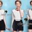 Seoul Secret จั้มสูทกางเกงขาสั้น โทนสีขาวดำ thumbnail 1