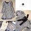 Lady Ribbon Shinori Mini Dress มินิเดรสลายชิโนริแขนยาว แต่งโบว์ thumbnail 8