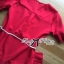 Lady Ribbon Red Pleated Frill with Belt thumbnail 9