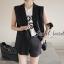 Seoul Secret เสื้อคลุมทรงสูทแขนกุด ผ้าคอตตอน thumbnail 2