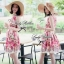 Lady Ribbon Rosalyn Dress เดรสลายดอกไม้ พร้อมริบบิ้นผูกเอว thumbnail 6
