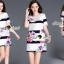 Seoul Secret Stripy Rose Dress thumbnail 9