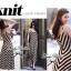 Lady Ribbon B&W Stripe Maxi Korea แม็กซี่ลายขวาง สุด Chic thumbnail 8