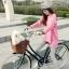 เสื้อยืดตัวยาว สีชมพูหวาน แต่งซิปด้านข้าง ชายเสื้อด้านหน้าสั้น ด้านหลังยาว thumbnail 3