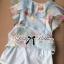 Lady Ribbon Sweet Floral Printed Silk Cotton Ruffle Dress thumbnail 8