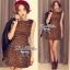 Lady Ribbon Leopard Print Mini Dress มินิเดรสแขนกุด พิมพ์ลายเสือดาว thumbnail 2