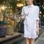 White Lace Mini Dress Shirt by Seoul Secret thumbnail 5