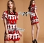 Lady Ribbon Lady Olive Playful Graphic Print Mini Dress thumbnail 4