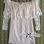 Lady Ribbon Dress เดรสเปิดไหล่ประดับขนนกสีชมพู thumbnail 6