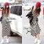 Lady Ribbon B&W Stripe Maxi Korea แม็กซี่ลายขวาง สุด Chic thumbnail 10