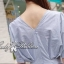 Lady Ribbon เสื้อจับจีบช่วงเอว ชายระบาย สีฟ้า/ชมพู thumbnail 4