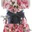 Lady Ribbon Rosalyn Dress เดรสลายดอกไม้ พร้อมริบบิ้นผูกเอว thumbnail 8