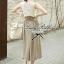 Lady Ribbon Vintage Set เสื้อแขนกุดผ้าแก้วลายลูกไม้กับกระโปรงบาน thumbnail 3