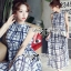 Lady Ribbon Maxi Dress เดรสยาว ผ้าพิมพ์ลายตาราง thumbnail 4