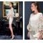 Icevanilla Luxury See-through White Lace Dress thumbnail 2