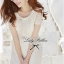 Lady Ribbon Sweet Honey Lace Dress เดรสผ้าลูกไม้ลายดอกสีขาว thumbnail 3