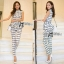Lady Ribbon Lady Black&White Checkmate Trousers Set thumbnail 2