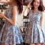 Lady Ribbon Floral Print Cut-Shoulder Mini Dress thumbnail 8