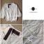Lady Ribbon เสื้อสีขาวแขนพอง เอวจั้มพ์ แต่งมุกและลูกไม้ thumbnail 6