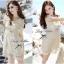 Lady Ribbon Sweet Honey Lace Dress เดรสผ้าลูกไม้ลายดอกสีขาว thumbnail 4