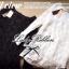 Lady Ribbon Organdy Glittery Mini Dress มินิเดรสผ้าแก้วซีทรู สีขาว สีดำ thumbnail 9