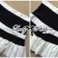 Lady Ribbon Minimal Chic Set ชุดเซ็ทเสื้อครอปและกระโปรง สีขาวดำ thumbnail 13