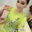 Lady Ribbon Eastern Blossom Print Dress in Green thumbnail 5