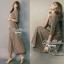 Lady Ribbon Stripe Maxi Dress แม็กซี่ลายทาง โทนสีน้ำตาล thumbnail 8