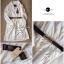 Lady Ribbon ชุดเดรสสม็อคเอว ขาว/ดำ ขายพร้อมเข็มขัด thumbnail 9